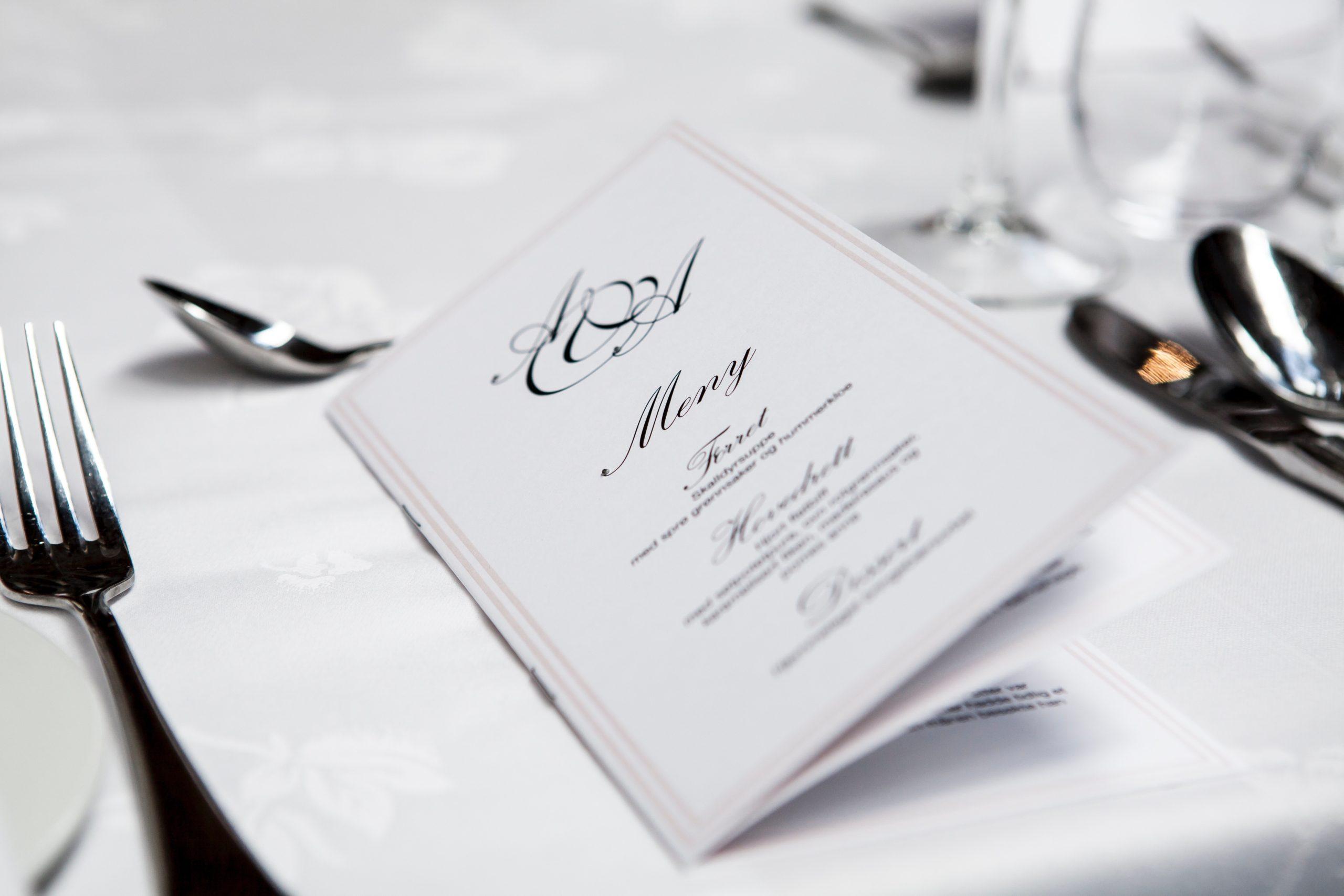 a stylish looking restaurant menu